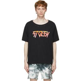 Stolen Girlfriends Club Black Berate Fade T-Shirt C1-21615AC-H