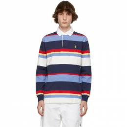 Polo Ralph Lauren Blue and White Striped Rustic Polo 710835946001