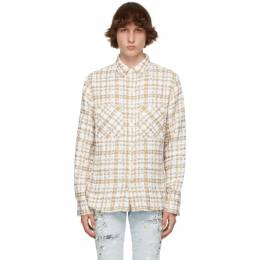 Faith Connexion SSENSE Exclusive Beige and Off-White Tweed Oversized Shirt X1820T00567