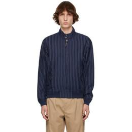 Polo Ralph Lauren Navy Linen Striped Jacket 710832898001