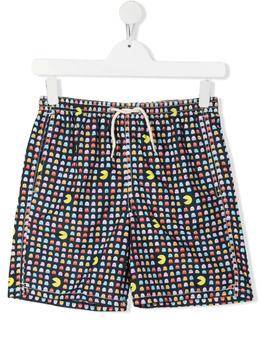 Mc2 Saint Barth Kids плавки-шорты с принтом Pacman JEA0004