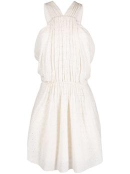 Iro платье мини с вырезом халтер и английской вышивкой WM33IBIZA