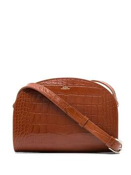 A.P.C. сумка через плечо Demi Lune с тиснением под крокодила PXBPRF61048
