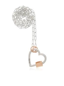 Marla Aaron серебряное колье с подвеской Heart Lock MAHLSSYGMASC4
