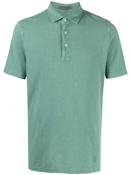 Corneliani рубашка поло с вышитым логотипом 87G5791125041