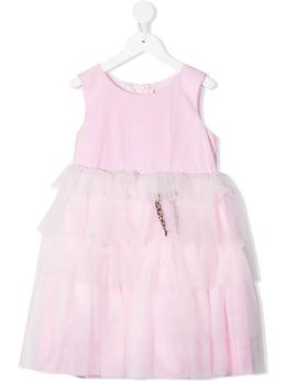 Miss Blumarine платье из тюля с короткими рукавами MBL3762