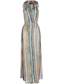 Missoni Mare платье миди с запахом и узором зигзаг MMQ00219BR00E8SM51C