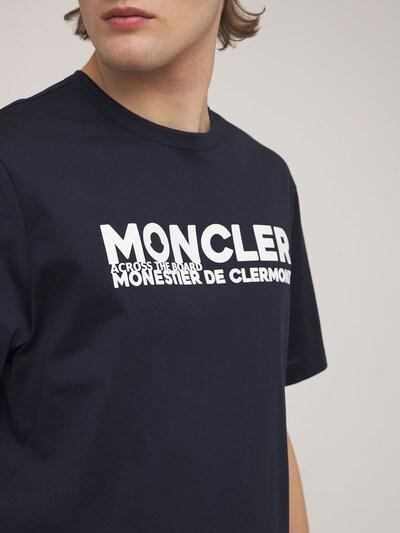 Logo Cotton Jersey Crewneck T-shirt Moncler 73IMJ6073-Nzc40 - 3