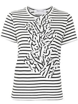 Comme Des Garcons Comme Des Garcons полосатая футболка со сборками RGT020051