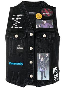 Raf Simons джинсовый жилет Teenage Dreams 211W581B101340099
