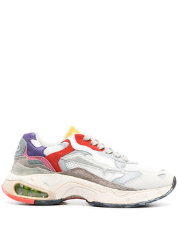 Premiata кроссовки на шнуровке со вставками SHARKYD075