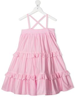 Piccola Ludo расклешенное платье с оборками BF6WB040TES0489