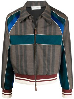 Wales Bonner куртка-рубашка в стиле колор-блок US21JA03GDP100C