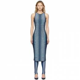 Marine Serre Blue Denim Moonfish Dress D080SS21WU