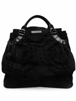 Burberry Pre-Owned объемная плетеная сумка-тоут 2010-х годов SB01031
