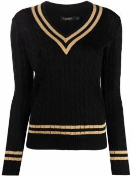 Lauren Ralph Lauren свитер с отделкой в полоску 200773871