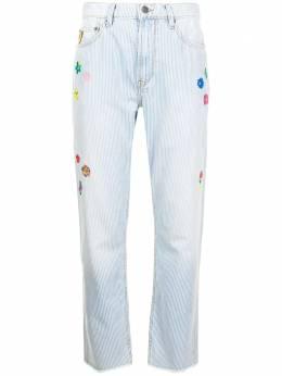Mira Mikati джинсы прямого кроя с цветочной вышивкой DEN021SS21