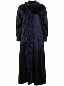 Simone Rocha платье миди с длинными рукавами 70680318NAVY