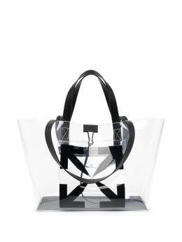 Off-White SMALL ARROW TOTE BAG NO COLOR BLACK OMNA161S21PLA0010010