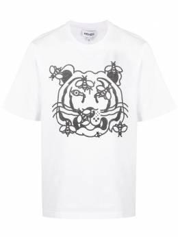 Kenzo футболка с короткими рукавами и графичным принтом FB55TS0844SB