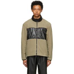 Rains Taupe and Black Fleece Jacket 1840