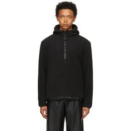 Rains Black Fleece Pull-Over Hooded Jacket 1841