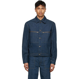 Lemaire Blue Denim Trucker Jacket M 211 OW176 LD061