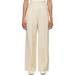 Toteme Beige Pine Suit Trousers 212-253-709