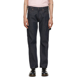 Junya Watanabe Indigo Levis Edition Herringbone Trim Jeans WG-P214-051