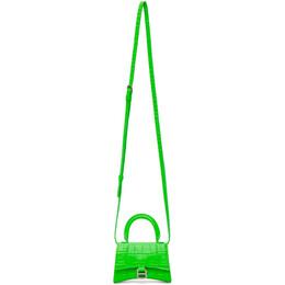 Balenciaga Green Croc Mini Hourglass Bag 637372 1LR6Y