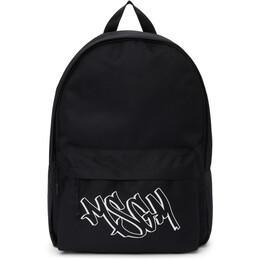 MSGM Black Logo Backpack 3040MZ32 075