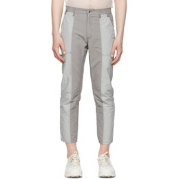 Eckhaus Latta Grey and Pink Blunt Redux Trousers 339-EL-SS21-GM