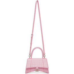 Balenciaga Pink Croc Small Hourglass Bag 593546 15V7Y