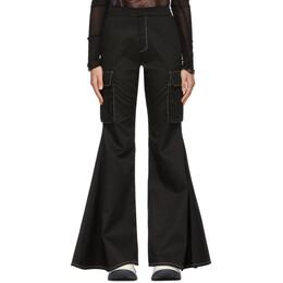 Sunnei Black Flared Cargo-Fit Trousers SN1SWT04AP - TE087.99