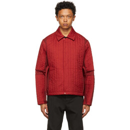 Craig Green Red Quilted Skin Jacket CGSS21CWOJKT09