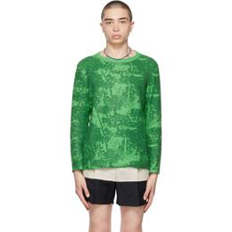 Eckhaus Latta Green Wool Poison Sweater 079-EL-SS21-F