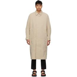 Tom Wood Beige and Khaki Mac Coat 21201543
