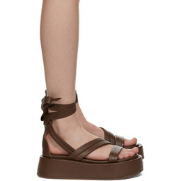 Marsell Brown Piattaforma Strap Sandals MW6322 188