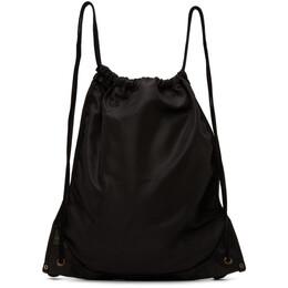 Guidi Black Drawstring Backpack SP08