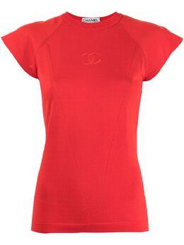 Chanel Pre-Owned футболка с вышитым логотипом CC 173053335403