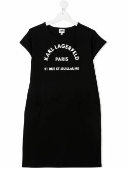 Karl Lagerfeld Kids платье-футболка с логотипом Z12171