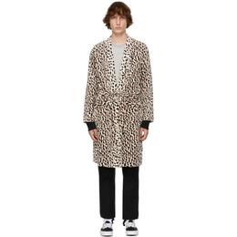 Wacko Maria White Leopard Guilty Parties Gown Coat 21SS-WMO-CO08