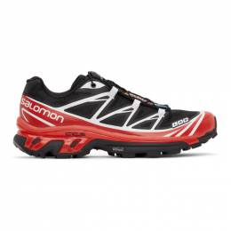 Salomon Black and Red XT-6 Advanced Sneakers 413948