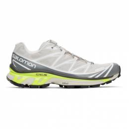 Salomon Taupe and Grey XT-6 Advanced Sneakers 413951