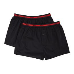 Hugo Two-Pack Black Logo Boxer Briefs 50438748
