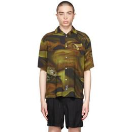 Eytys Khaki and Black Lizard Alonzo Bowling Shirt AZOL