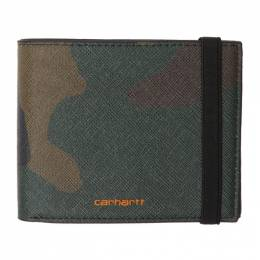 Carhartt Work In Progress Green Camo Bifold Wallet I026210