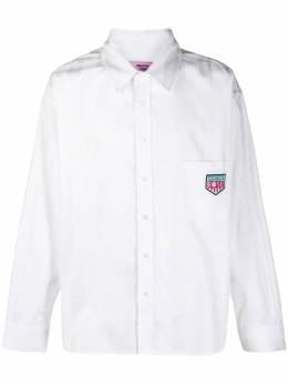 Martine Rose полосатая рубашка с жаккардовым логотипом S10MR428I
