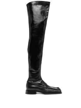 Jil Sander ботфорты с квадратным носком JS36109A13200