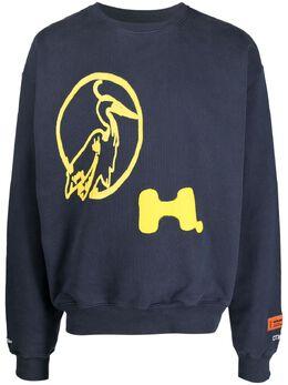 Heron Preston толстовка с круглым вырезом и принтом HMBA016S21JER0040718